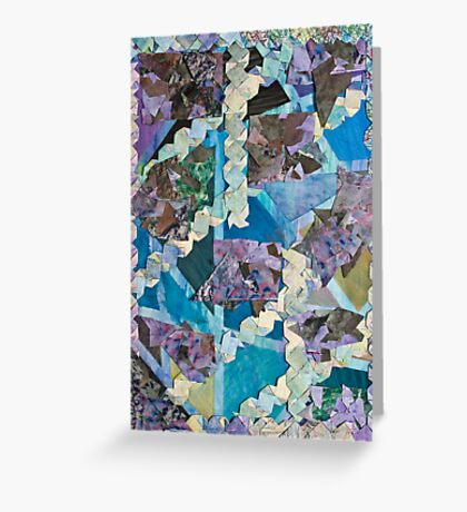 Abstract Origami Puzzle Greeting Card