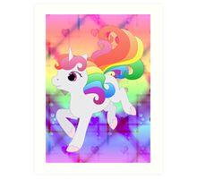 Cute Baby Rainbow Unicorn Art Print