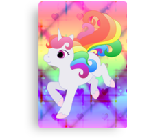 Cute Baby Rainbow Unicorn Canvas Print