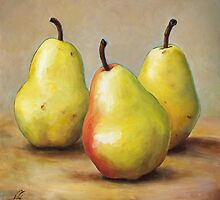 Three Pears by Anna Abramskaya