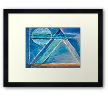 Pyramids Of The Moon Framed Print