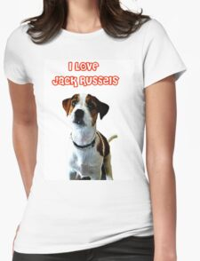i Love Jack russels Womens Fitted T-Shirt