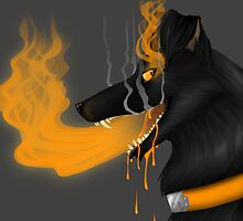 Grim Black Dog by necroMatador