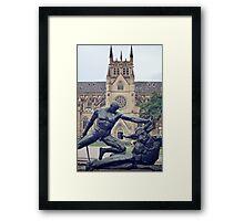 Archibald Fountain, Hyde Park, Sydney, Australia - Theseus vs. the Minotaur Framed Print