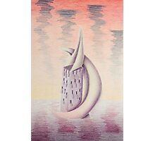 Crescent Moon Tower Photographic Print