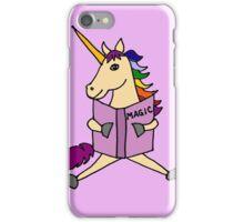 Cute Cool Colorful Unicorn Reading Magic Book iPhone Case/Skin