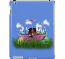 Easter Sheltie Puppy iPad Case/Skin