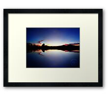 ©HCS Blue Echo Framed Print