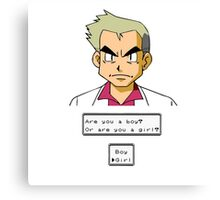 Pokemon - Professor Oak Canvas Print
