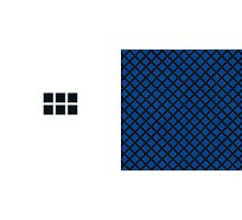 Number BLUE+black 6 Photographic Print