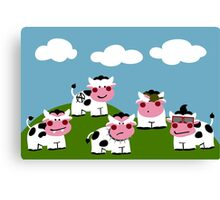 Hooligan Cows Canvas Print