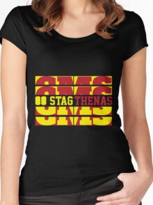 Stagthenas Zip Up Women's Fitted Scoop T-Shirt