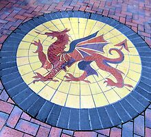 152 - DRAGON MOSAIC AT DENNIS RUABON BRICKWORKS (D.E. 2013) by BLYTHPHOTO