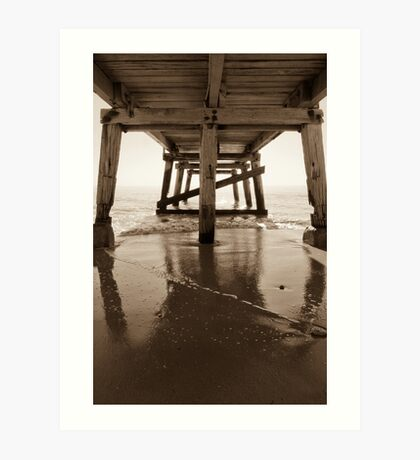 Under the Jetty 2 (Normanville, SA)  Art Print