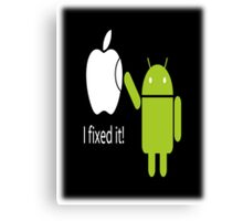 ANDROID VS APPLE Canvas Print