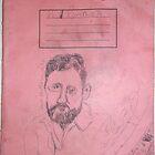Matisse sketch -(130313)- Black biro pen/A4 sketchpad by paulramnora