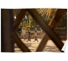 Village Life in Bagan Poster