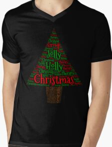 Happy Holly Jolly Christmas Therapy Mens V-Neck T-Shirt