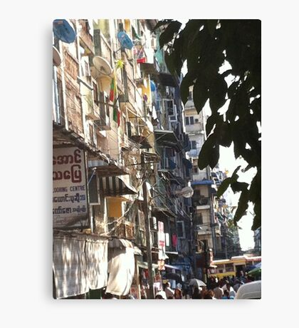 Yangon Streetscape Canvas Print