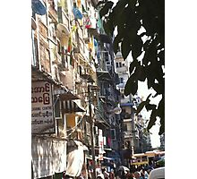 Yangon Streetscape Photographic Print