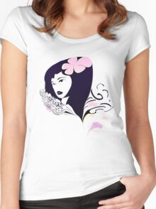 Womanly7 Women's Fitted Scoop T-Shirt