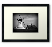 Lytham Windmill and Lifeboat station Framed Print