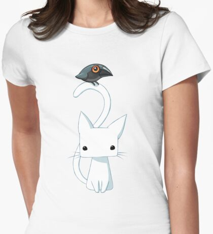 Cat and Raven Womens Fitted T-Shirt