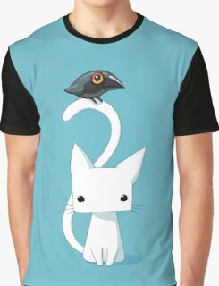 Cat and Raven Graphic T-Shirt
