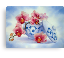 Orchid in a Japanese Bowl Canvas Print