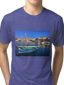 Maltese Traditional Boat Tri-blend T-Shirt