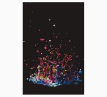 Paint Sculpture - High speed photography of splashes of paint  One Piece - Long Sleeve