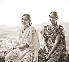 Mountain Girls in India by jazzwall