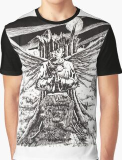 The Graveyard Book, 'The Ghoul Gate' - ink Graphic T-Shirt