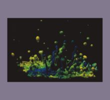 Paint Sculpture - High speed photography of splashes of paint  Kids Tee