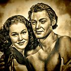 Johnny Weissmuller & Maureen O'Sullivan by © Kira Bodensted