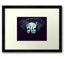 Man Vs God Framed Print