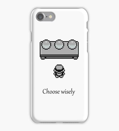 Pokemon - The choice iPhone Case/Skin