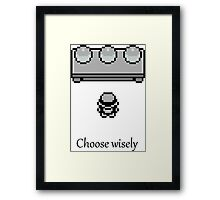 Pokemon - The choice Framed Print