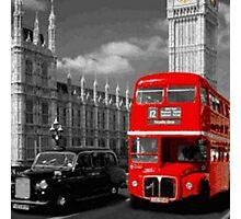 tipical london bus pillows & totes Photographic Print
