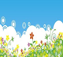 Spring & Multicolor Flowers iPad Case by AdrianeJ