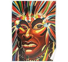 Native American Fantacy by Suzanne Marie Leclair Poster