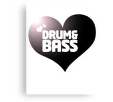 DRUM & BASS HEART Canvas Print