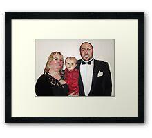 Chris, Karen and Olivia Framed Print
