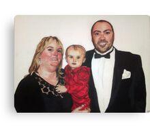 Chris, Karen and Olivia Canvas Print