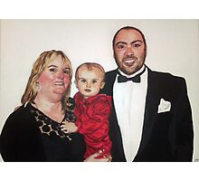 Chris, Karen and Olivia Photographic Print