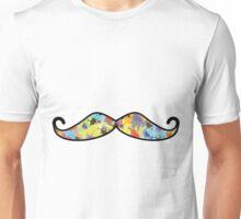 Mustache Splash Colorful Splatter Unisex T-Shirt