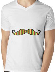 Mustache Bob Marley Mens V-Neck T-Shirt