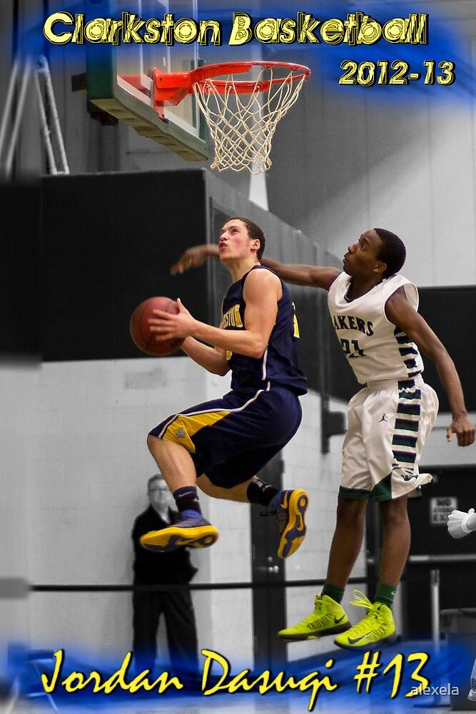 Jordan Dasuqi   2012-13   Clarkston Basketball Poster by alexela