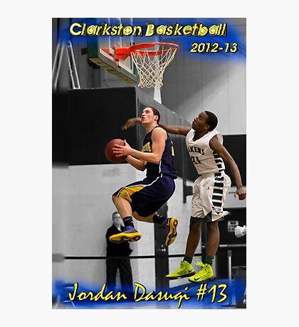 Jordan Dasuqi | 2012-13 | Clarkston Basketball Poster Photographic Print