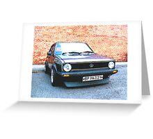 Volkswagon Mark1 GTi Greeting Card